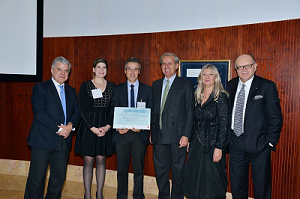 From left to right: Dr. Fausto Pinto, President of ESC; Dr. Meredith Ashley Goss, Global Cardiovascular Scientific Relations Manager Boehringer Ingelheim; Dr. Jose Manuel Soria; Head of the Unit of Genomics of Complex Diseases Biomedical Research Institute (IIB-Sant Pau); Dr. Francesco Cosentino, Chairman of the ESC Fellowship Program Scientific Committee; & Nbsp; Prof Barbara Casadei, vice president of ESC; Professor Panos Vardas, former president of ESC.
